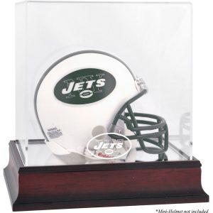 Fanatics Authentic New York Jets Mahogany Logo Mini Helmet Display Case