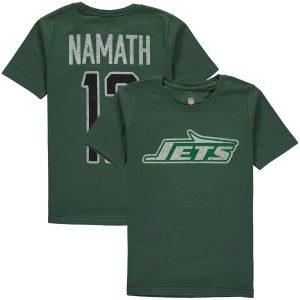 Joe Namath New York Jets Youth Retired Player Vintage Name & Number T-Shirt