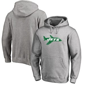 New York Jets NFL Pro Line Throwback Logo Pullover Hoodie
