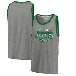 New York Jets Throwback Collection Season Ticket Tri-Blend Tank Top