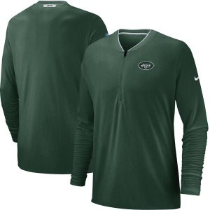 New York Jets Nike Sideline Coaches Half-Zip Pullover Jacket