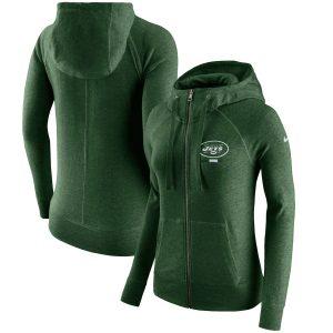 New York Jets Nike Women's Gym Vintage Full-Zip Hoodie