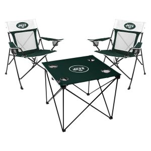 New York Jets Rawlings Deluxe 3-Piece Tailgate Chair & Table Kit