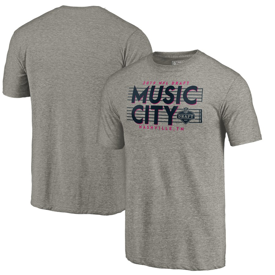 the latest 60b25 734c2 NFL Pro Line by Fanatics Branded 2019 NFL Draft Music City Tri-Blend T-Shirt