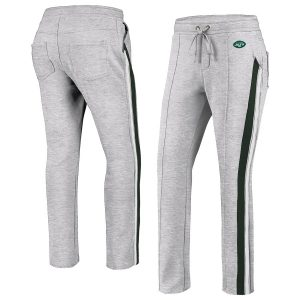 New York Jets WEAR By Erin Andrews Women's Track Pants – Gray