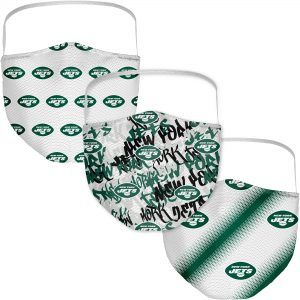 New York Jets Adult Official Logo Face Covering 3-Pack