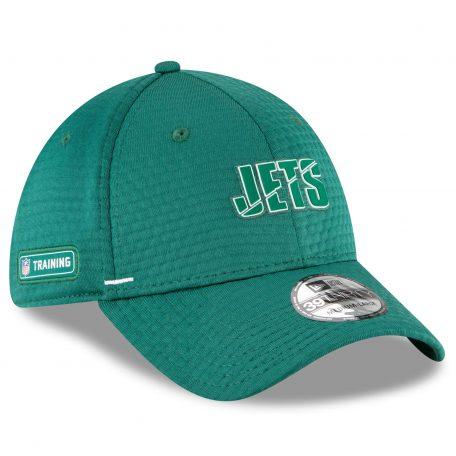 Men's New Era Green New York Jets 2020 NFL Summer Sideline Official 39THIRTY Flex Hat