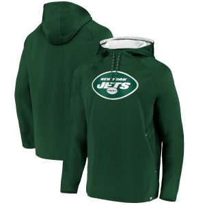 New York Jets Iconic Embossed Defender Pullover Hoodie