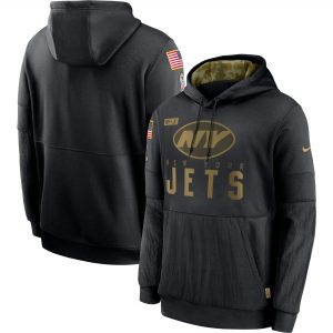 New York Jets Nike 2020 Salute to Service Sideline Performance Pullover Hoodie