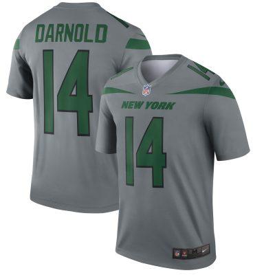 Men's New York Jets Sam Darnold Nike Gray Inverted Legend Jersey